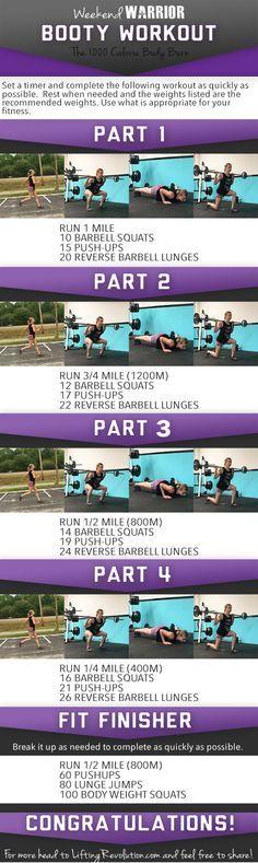 Weekend Warrior Butt Workout: Another 1000 Calorie Burning Workout