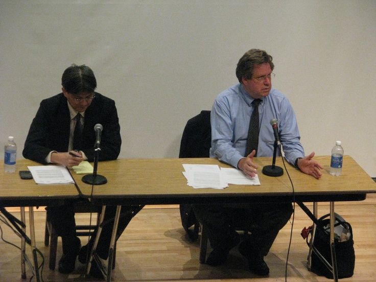 William R. Pace & Takahiro Katsumi present to various members, media and guests.