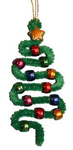 Pipe cleaner Christmas tree ornament