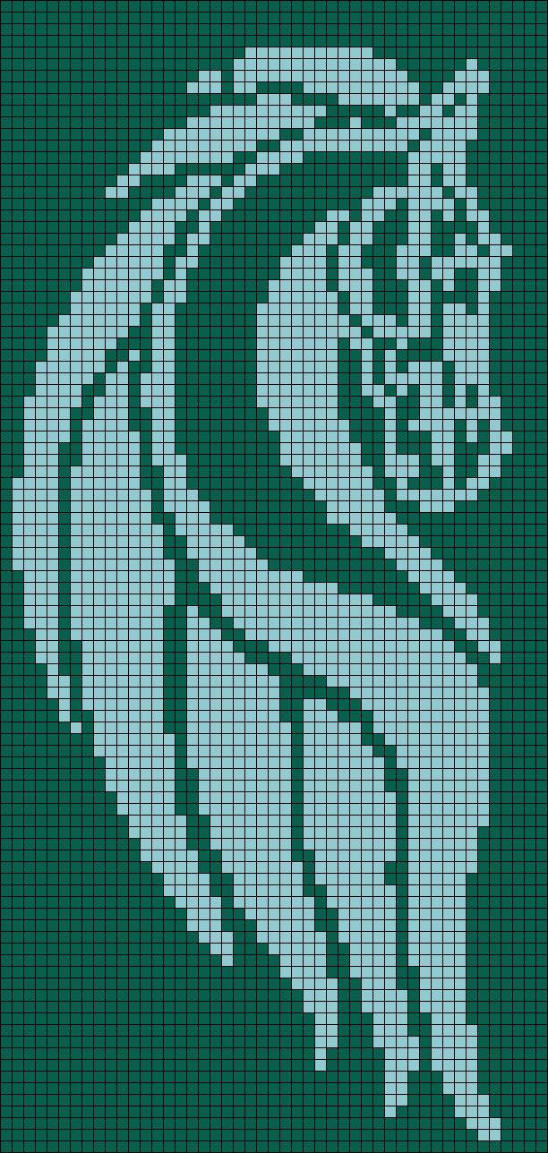 LOTR Rohan Banner Perler Bead Pattern