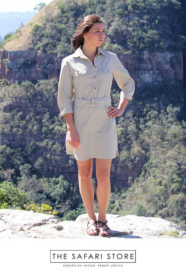 One Of The Best Travel Dresses For Summer According To Lifney And Selected By The Huffington Post For Their Ultimate Trav In 2020 Safari Shirt Travel Dress Shirt Dress