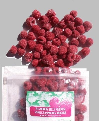Frozen raspberries IQF