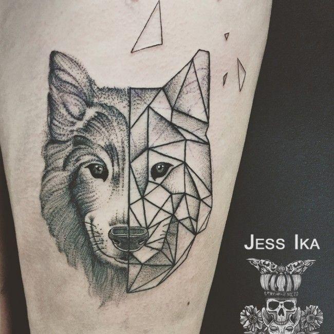 17 meilleures images propos de tatouages sur pinterest on adore cerf et mandalas - Tatouage loup mandala ...