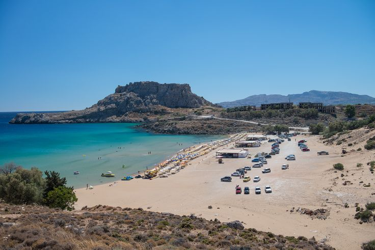 Megali Paralia is the main beach in Lindos, Phodes. #beaches, #landscape, #greekislands, #greece, #hdrphotography, #hdr, #rodos, #rhodes
