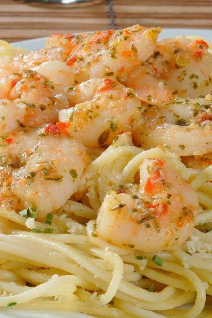 Lemony Shrimp Scampi Pasta | Dinner entree recipes | Pinterest