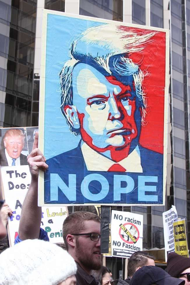 This is an image of Versatile Protest Sign Ideas Trump