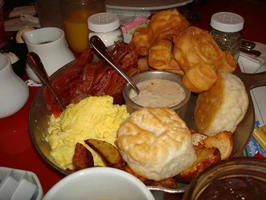The Breakfast Skillet at Whispering Canyon Cafe