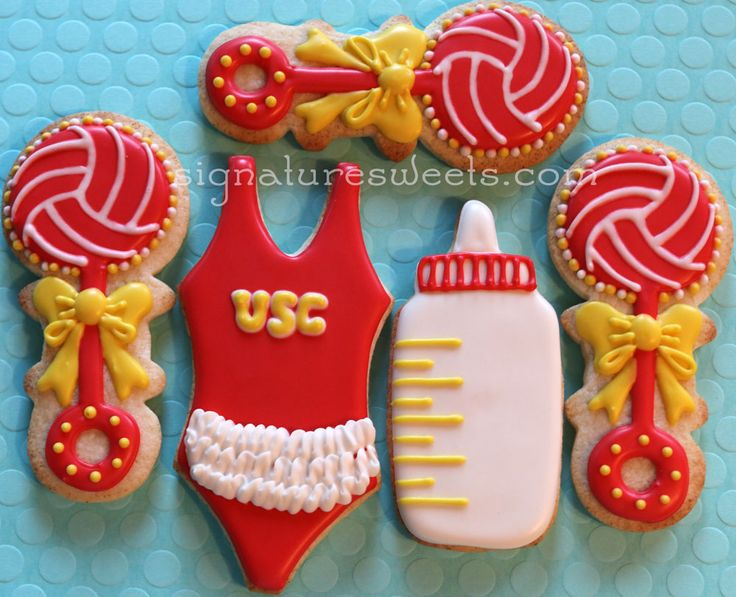 custom hand decorated cookies sports, football, baseball, basketball, softball, water polo, hockey, lacrosse, tennis, games