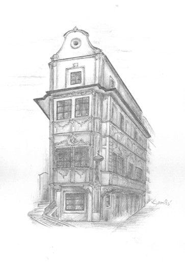 Pencil drawing Bratislava Museum Hours by Folkana.deviantart.com on @deviantART