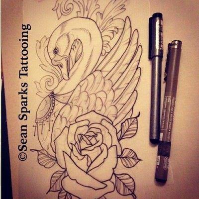 swan rose tattoo ideas pinterest body art tattoos