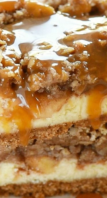 Dutch Apple Pie Cheesecake Bars