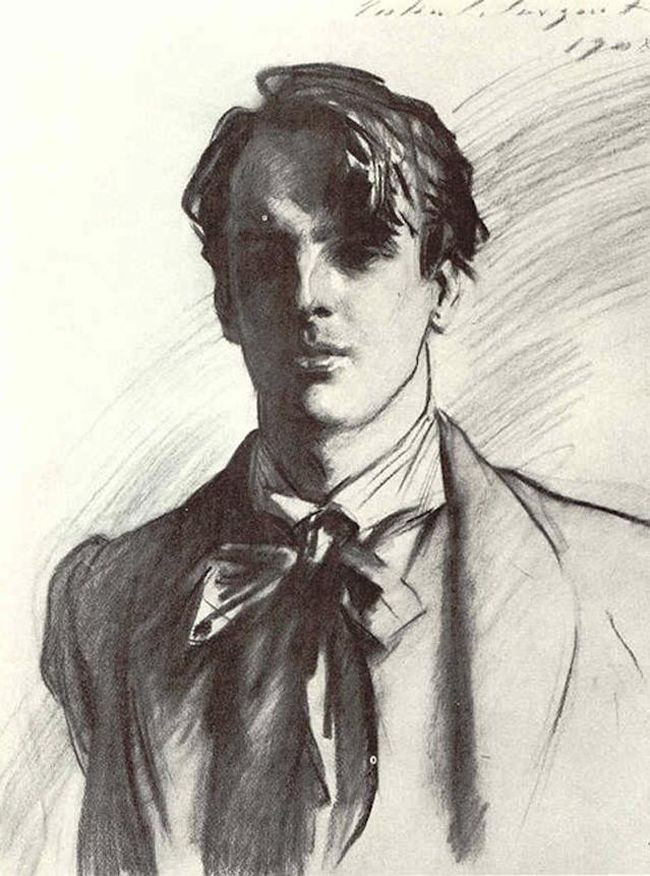 W. B. Yeats by John Singer Sargent, 1908. http://hila-lumiere.blogspot.com/2011/08/birthday-collections.html