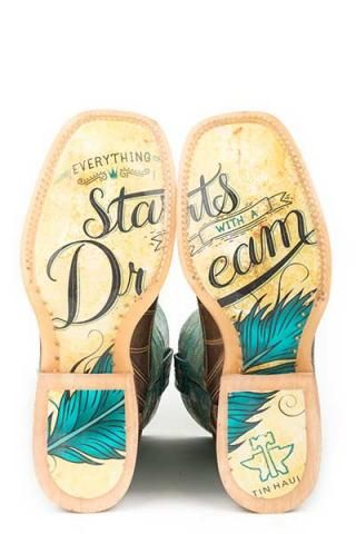 Tin Haul Dreamcatcher Start With A Dream Sole Boots - Urban Western Wear