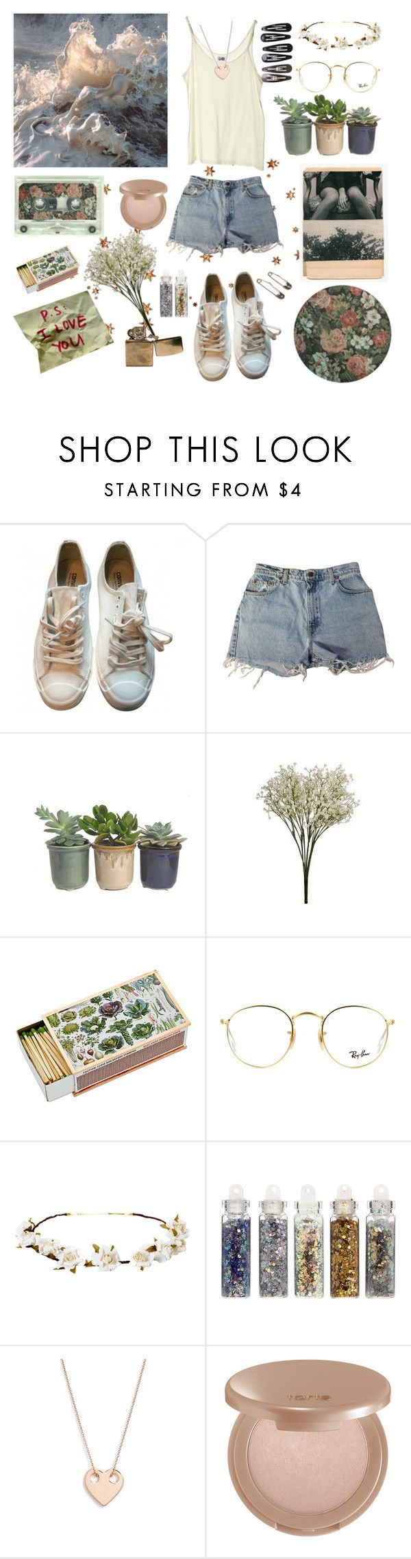 """""""summer melancholy 🌾"""" by lilyjey ❤ liked on Polyvore featuring Chloé, Maison Margiela, Cheap Monday, Levi's, Hostess, Ray-Ban, Cult Gaia, ASOS, Ginette NY and tarte"""