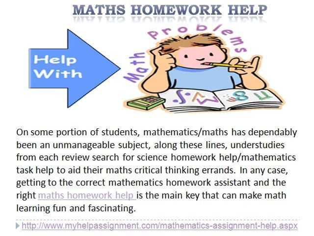 online maths homework help Math goodies was a pioneer of online math help we started in 1998 with our unique resources select an item from the list below for help' math lessons with step-by-step instruction for use at your own pace.