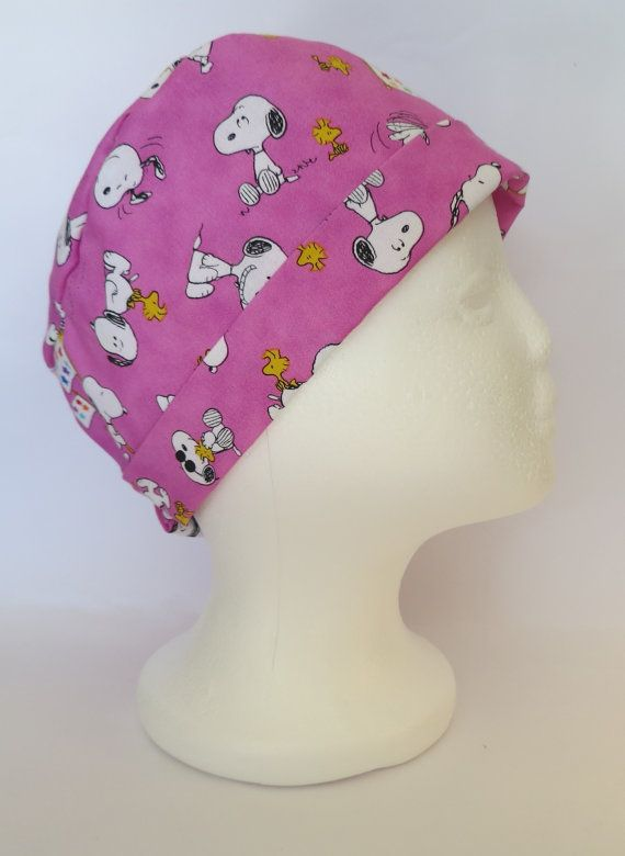 Scrub Hat Theatre Nurses Surgical Cap Snoopy by SnazzyScrubHats