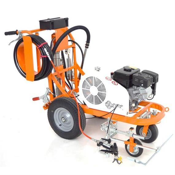 Cmc Ar 30 Pro P Airless Road Marking Machine With Piston Pump Airless Roadmarking Linemarking Surfacemarking Handpushed In 2020 Road Markings Pistons Road