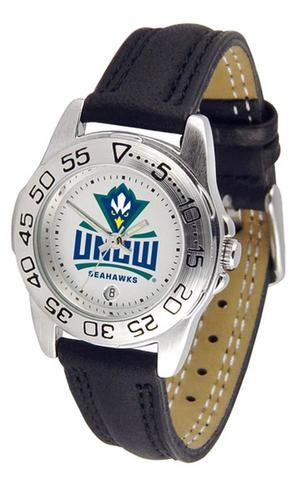 UNCW NC Wilmington Women's Leather Band Athletic Watch