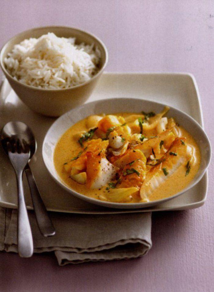 Curry de haddock au lait de coco