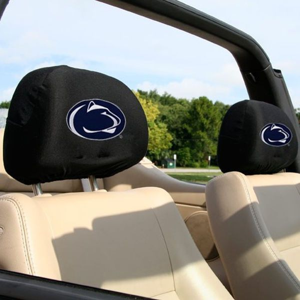 Penn State Nittany Lions Black 2-Pack Headrest Covers - $19.99