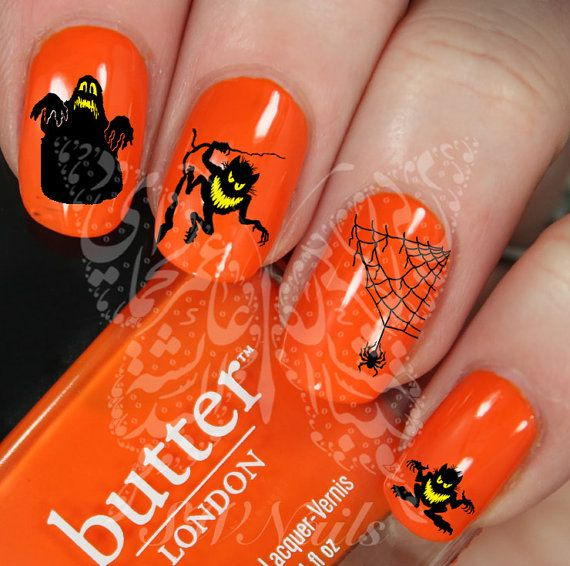 Halloween Nail Art Scary Nail Water Decals Transfers by SWNails