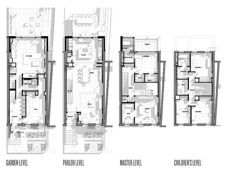 Urban Townhouse Floor Plans: Cobble Hill Townhouse Plans- INC #plan
