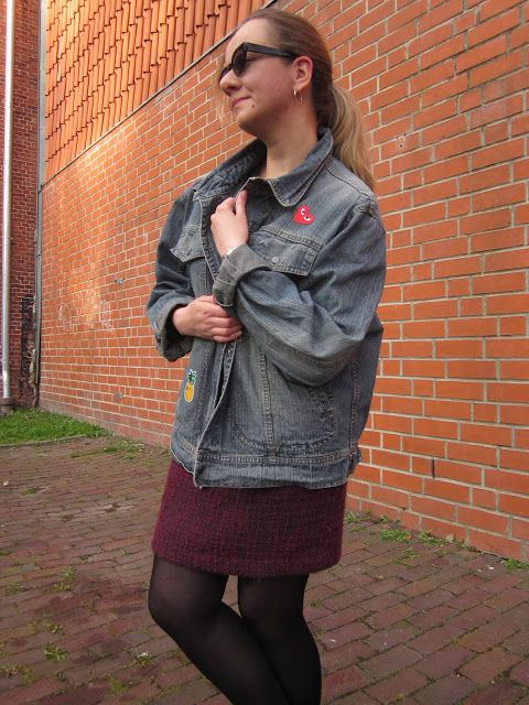 Fashion translated: Outfit: DIY patches jacket denim