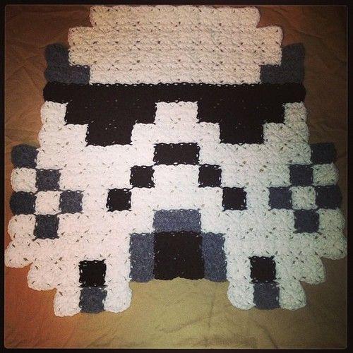 Star Wars Criativo Manta Croché Quadrado Soldado Tempestade -  /   Creative Blanket Crocheting Quadrado Star Wars Stormtrooper -