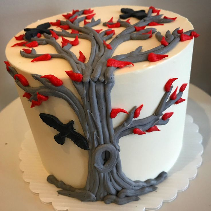 Game of Thrones inspired Weirwood tree cake.