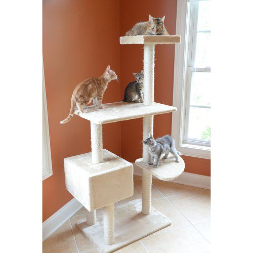GleePet 57 in. Steady Me Cat Tree - Cat Trees at Hayneedle