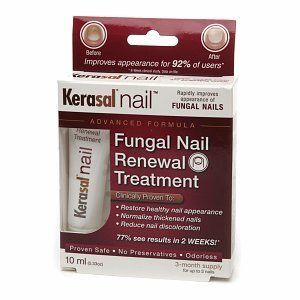 Kerasal Nail Fungal Nail Renewal Treatment, 3 month supply, .33 oz by 857074001613. $20.98. About Kerasal Nail  Previously only available in Europe, Kerasal Fungal Nail Renewal Treatment is a topical formula that is clinically proven to rapidly improve the appearance of unsightly nails damaged by fungus or psoriasis. Kerasal Nail normalizes thickened nails, reduces nail discoloration, and softens and rehydrates brittle nails. Kerasal Nail has been developed by dermatologists...