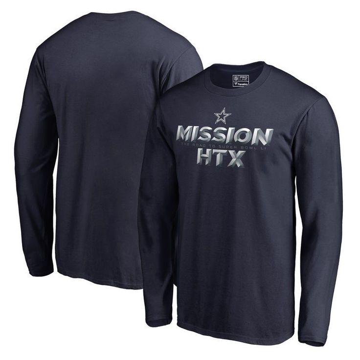 Dallas Cowboys Fanatics Branded 2016 NFL Playoff Bound Mission HTX Long Sleeve T-Shirt - Navy https://www.fanprint.com/stores/dallascowboystshirt?ref=5750