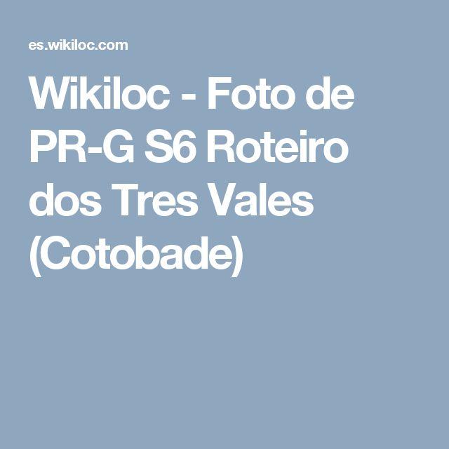 Wikiloc - Foto de PR-G S6 Roteiro dos Tres Vales (Cotobade)