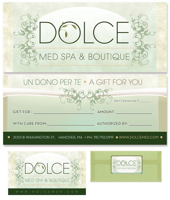 Med Spa, Gift Certificate Design