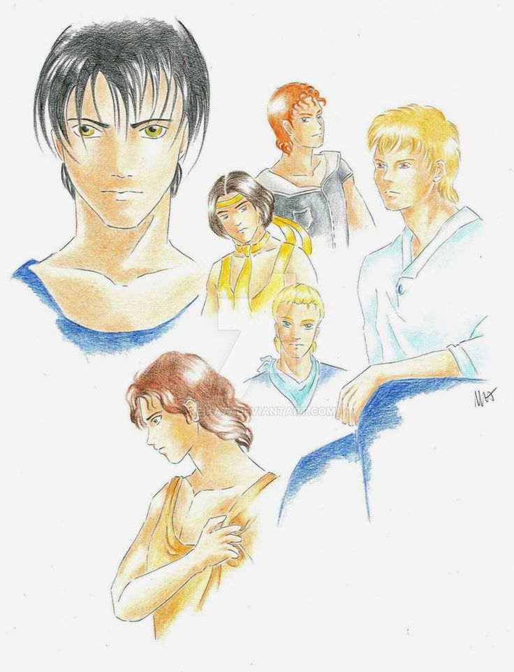 Male characters by Reika77.deviantart.com on @DeviantArt #boys #anime #manga #drawing #group