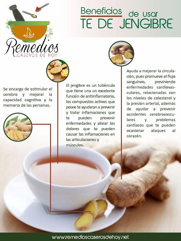 Conoce los beneficios de tomar té de jengibre. Para más visita: http://remedioscaserosdehoy.net/