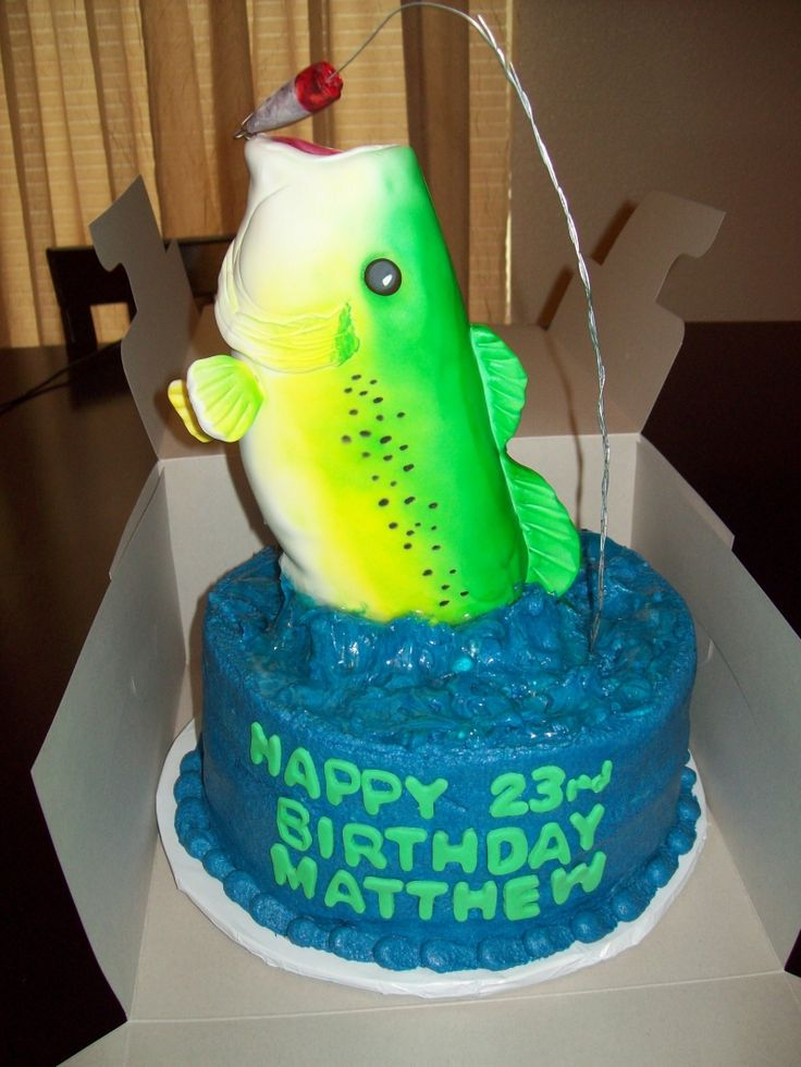 18 best fish cakes images on Pinterest Fishing cakes Birthday