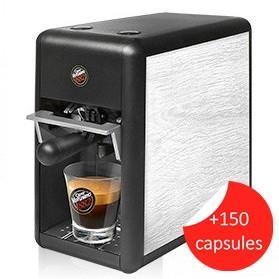 Caffè Vergnano 1882 TRÈ Mini Espresso Coffee Machine - White Oak - Pasticcini