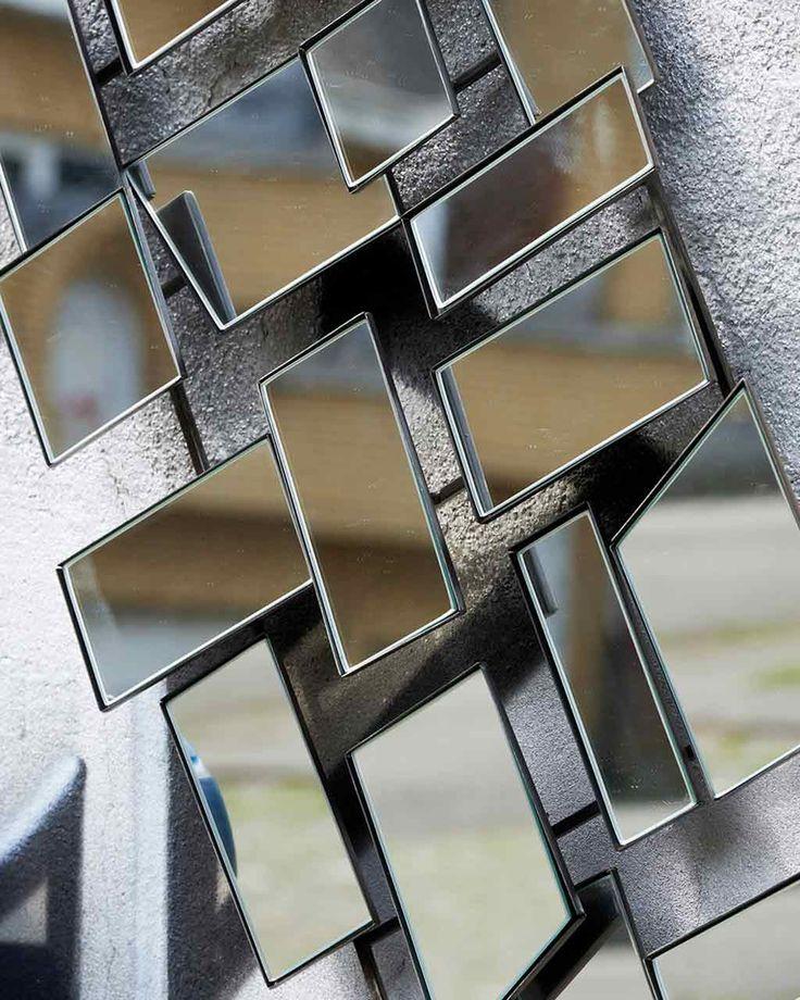 MirrorDeco — Urban - Faceted Modern Wall Art Mirror H:82cm