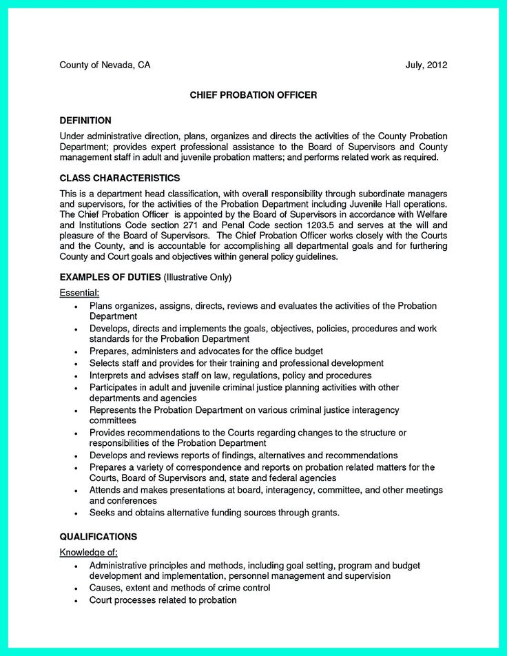 Resume Examples Sample Correctional Officer For Corrections
