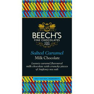 Beech's Milk Chocolate Salted Caramel Bar 60g. Made in England.