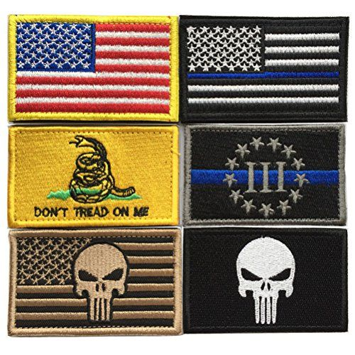 Bundle 6 pieces Full Color USA American Thin Blue Line Po...BUY IT HERE!