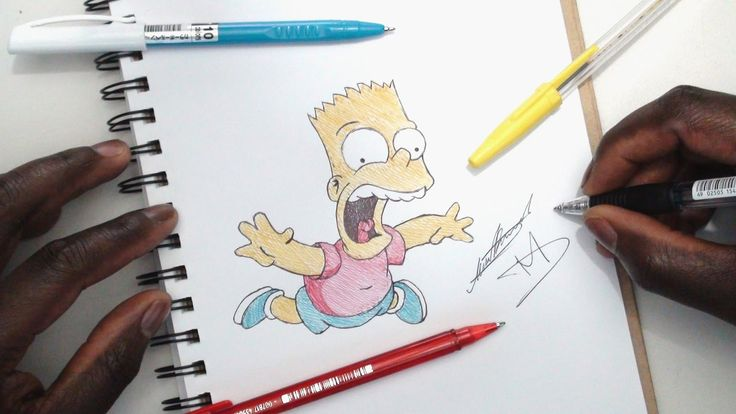 How To Draw Bart Simpson - The Simpsons - DeMoose Art