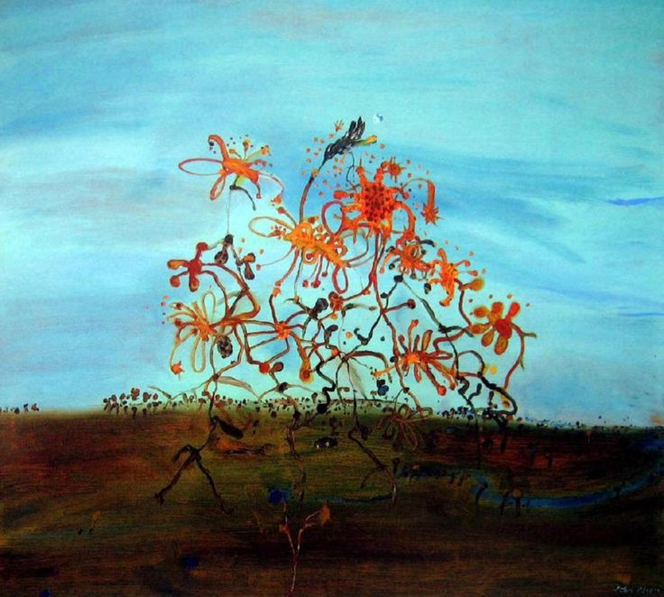 Evening with Passing Wildflowers 1981 john olsen