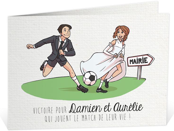faire part mariage humoristique qui sduira les amoureux du football ref n42133 - Faire Part Mariage Humoristique