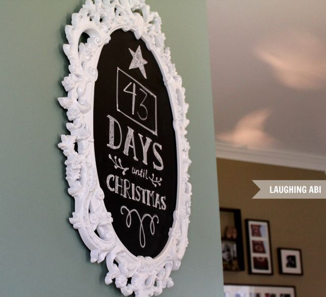Days Till Craft Ideas With Chalk Board