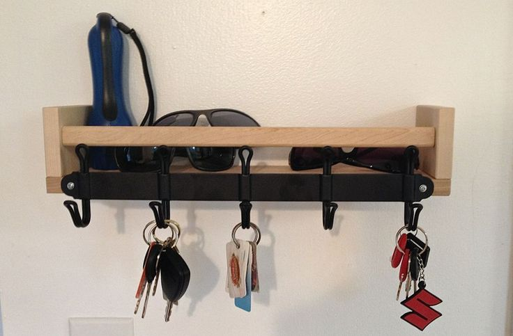 I have IKEA spice racks in the bathroom, the baby's room, and I'm so doing this for keys in the living room!!