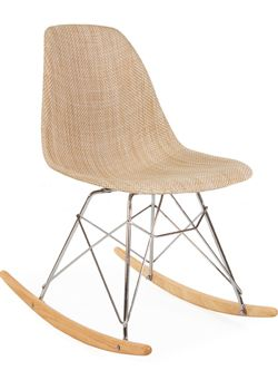 Eames upholsted wool Rocking Chair
