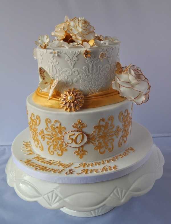 Best Fiftieth Anniversary Cake Images On Pinterest