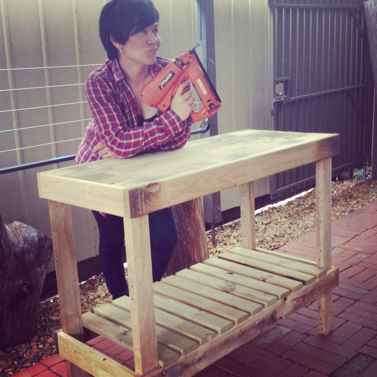 Upcycled pallet bench I made for my Mum Inlaw